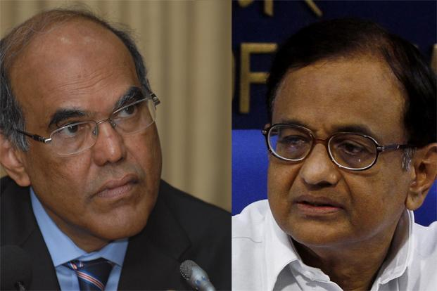 A file photo of RBI governor D. Subbarao (left) and finance minister P. Chidambaram. Photo: Hemant Mishra/Mint, PIB
