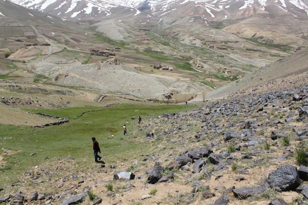 The file photo of a site for iron ore mines in Afghanistan where a consortium of Indian companies has won three blocks.