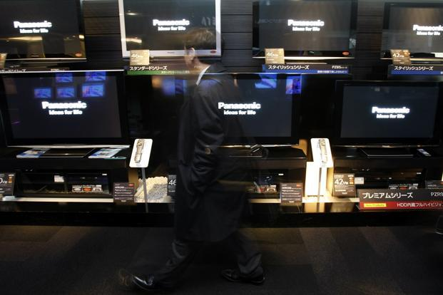 Fitch says it cut Panasonic by two notches to BB, while it slashed Sony's rating by three notches to BB-, with both firms given a negative outlook. Photo: Yuriko Nakao/Reuters