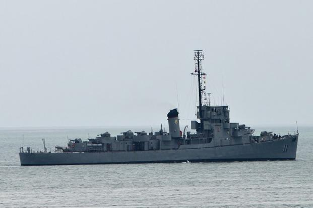 A file photo of a Philippine navy ship near South China Sea. Photo: AFP