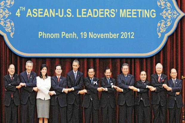 A file photo of Asean leaders during the Asean summit in Phnom Penh. Photo: Reuters