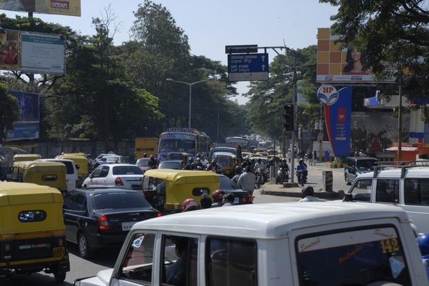 Cauvery junction in Bangalore. Scientists at Tel Aviv University tracked pollution trends for 189 megacities by analysing eight years' worth of data. Photo: Hemant Mishra/Mint (Hemant Mishra/Mint)