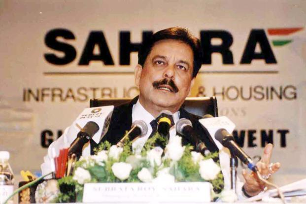 A file photo of Sahara group chairman Subrata Roy in Mumbai. Photo: PTI