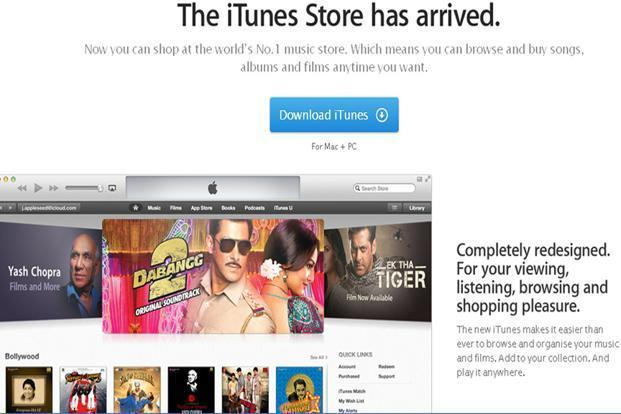 Apple launches iTunes movies, music in India