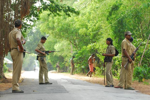 "The rebels are concerned with the ongoing modernization of several hundred police stations in what they term as ""the four tri-junctions"" of Maoist influence—Andhra Pradesh-Chhattisgarh-Maharashtra; Andhra Pradesh-Chhattisgarh-Orissa; Chhattisgarh-Jharkhand-Orissa; and Orissa-West Bengal-Jharkhand. Photo: Indranil Bhoumik/Mint (Indranil Bhoumik/Mint)"