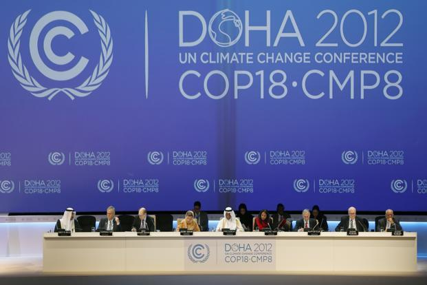The talks in Doha are meant to extend the life of the Kyoto Protocol, the world's only binding pact on curbing Earth-warming greenhouse gas emissions, whose first leg expires on 31 December. Photo: Reuters