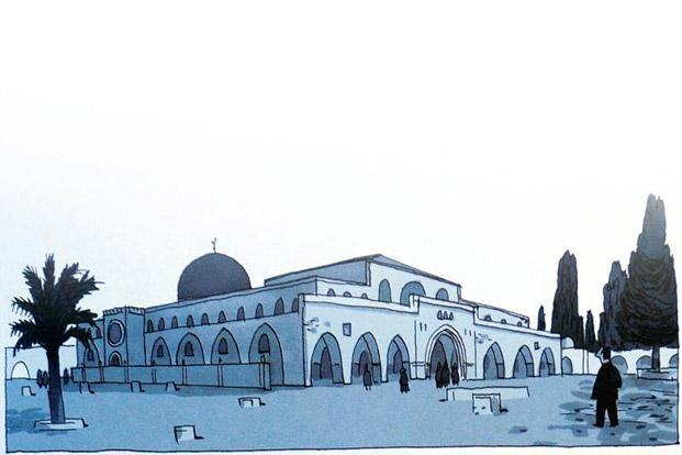 Delisle's depiction of the Haram al-Sharif in Jerusalem.