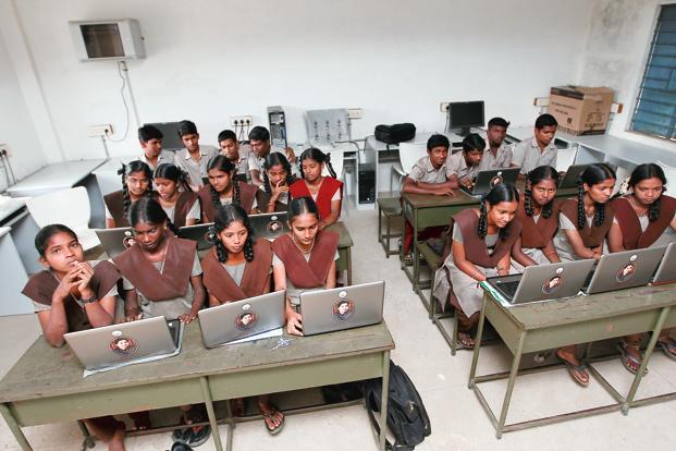 HP has quoted around `16,000 per laptop, or `19,000 with taxes and duties, for the UP government project to buy 150,000 laptops for students in the state. Photo: Saisen/Mint