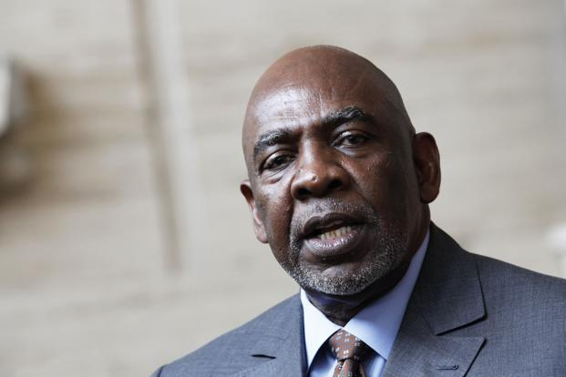 Cheikh Modibo Diarra appeared on TV at 4 a.m. local time to announce his resignation. Photo: Thierry Gouegnon/Reuters