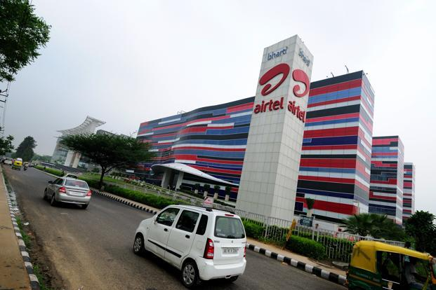 A file photo of Bharti Airtel's Gurgaon office. Bharti Airtel, which owns about 86% of Bharti Infratel, is not participating in the share sale. Photo: Pradeep Gaur/Mint