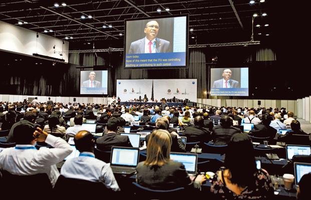 Participants at the World Conference on International Telecommunication in Dubai, United Arab Emirates. Photo: Kamran Jebreili/AP (Kamran Jebreili/AP)