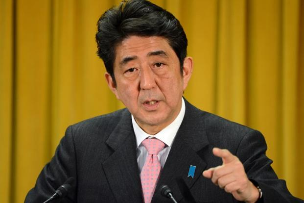 Shinzo Abe, whose conservative LDP secured a comfortable win in national polls Sunday, acknowledged Japan's relationship with China was important, but stuck to the hard line he pushed throughout the campaign. Photo: AFP