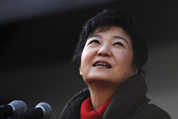 A file photo of South Korea's presidential candidate Park Geun-hye. She has pledged engagement with North if it gives up nuclear aspirations. Photo: Reuters