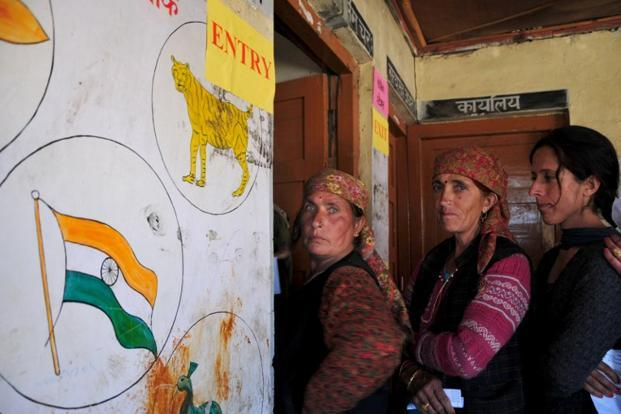 Out of 68 assembly seats in Himachal Pradesh, the Congress and the BJP won 36 and 26, respectively. Photo: AFP