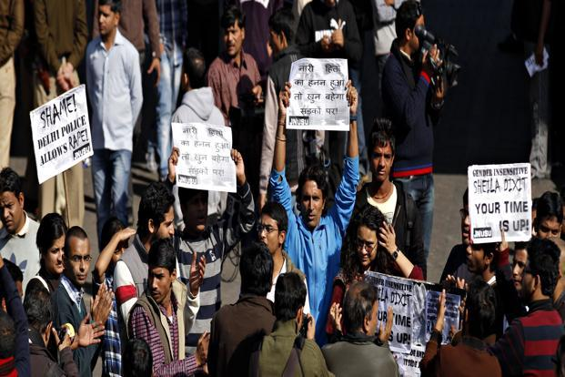 A file photo of students protesting in New Delhi. Photo: HT
