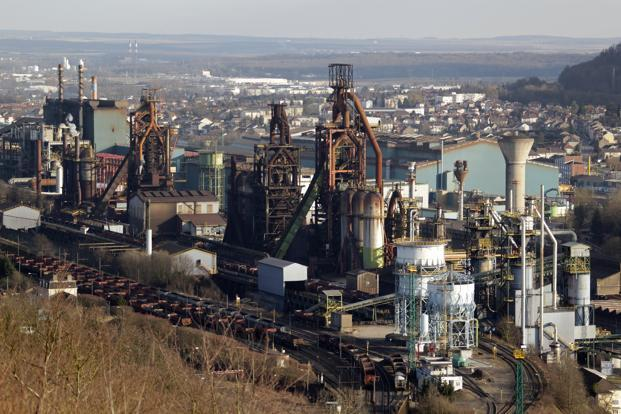 A file photo of a general view of the ArcelorMittal blast furnace in Hayange, Eastern France. Photo: Reuters.