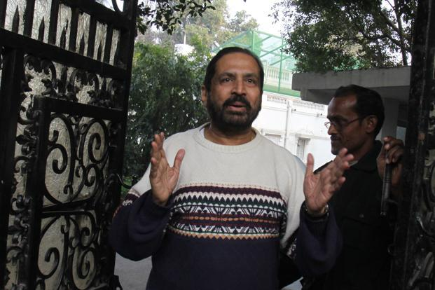 "Suresh Kalmadi, along with other accused, have been chargesheeted by the CBI for ""illegally"" awarding a contract to install timing, scoring and results system for CWG 2010 to Swiss Timing at an inflated rates causing a loss of over `90 crore to the exchequer. Photo: HT (HT)"