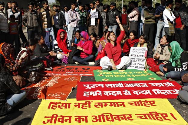 A file photo of students of JNU and other colleges protesting for women safety in New Delhi. Photo: Jasjeet Plaha/HT