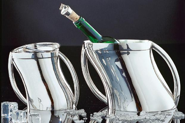 Episode: Wave wine cooler and ice bucket in sterling silver at N-10, N-Block Market, Greater Kailash-I, New Delhi; and Grand Galleria, High Street Phoenix mall, Lower Parel, Mumbai, Rs 1,60,140