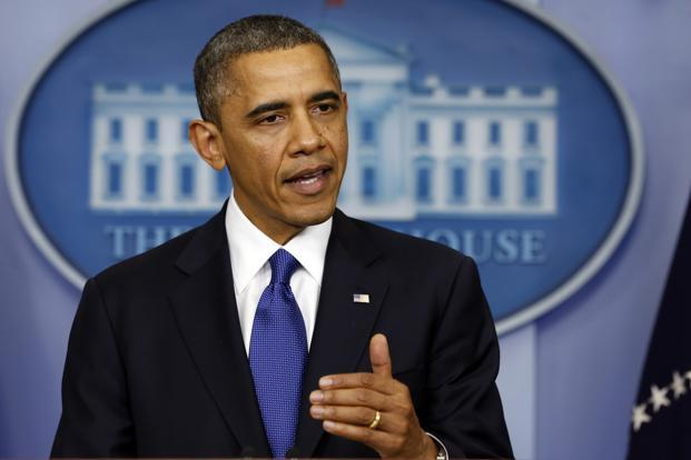 President Obama speaks about the fiscal cliff at the White House in Washington on Friday. Photo: Reuters