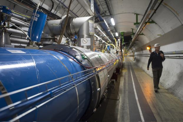 A file photo of a Large Hadron Collider.