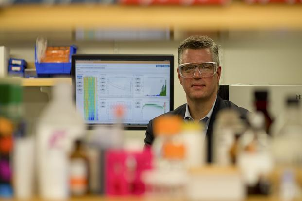 Dr Donald Bergstrom is a cancer specialist at Sanofi, one of three companies working on a drug to restore a tendency of damaged cells to self-destruct. Photo: C.J. Gunther/NYT