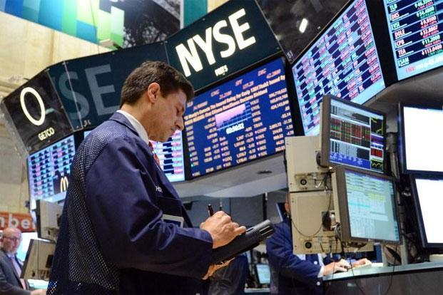 A trader at the New York Stock Exchange in New York. Photo: AFP