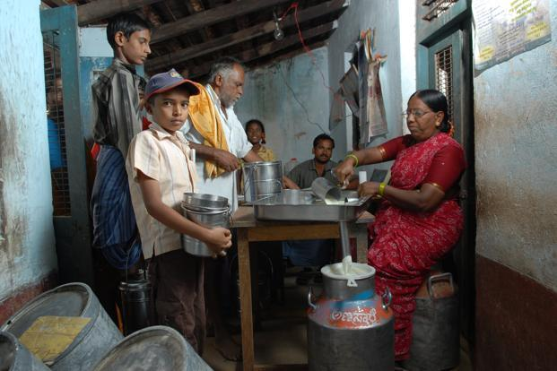 A file photo of a milk collection unit in Mandya district, Karnataka. The state government has said it will provide interest subsidy over and above 4% for ensuring that milk unions in the state are able to make timely payments. Photo: Hemant Mishra/Mint