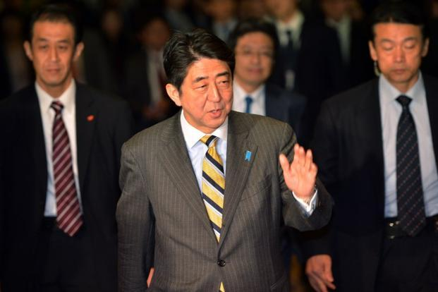 A file photo of Japan's incoming Prime Minister Shinzo Abe. Photo: AFP