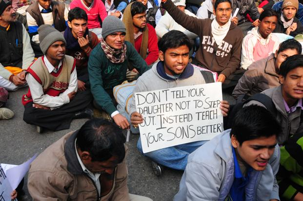 Protesters at Jantar Mantar in New Delhi on Tuesday. Photo: Ramesh Pathania/Mint