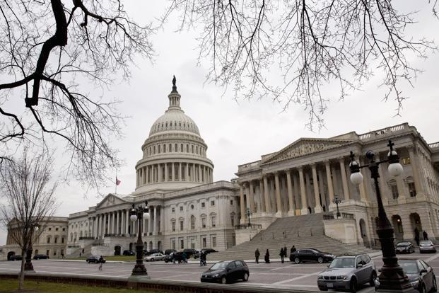 A file photo of the US Capitol buiding. The next session of the Senate is set for Thursday, but the issues presented by across-the-board tax hikes and indiscriminate reductions in government spending, were not on the calendar. Photo: Reuters