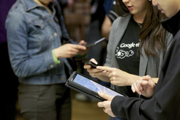 A file photo of Google's e-reader on devices. E-book prices have selectively fallen but not as broadly or drastically as was anticipated. Photo: Thor Swift/NYT