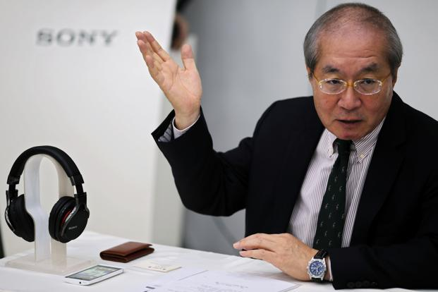 Sony China president Nobuki Kurita at a Sony Store in Beijing on Tuesday. Photo:  Petar Kujundzic/ Reuters