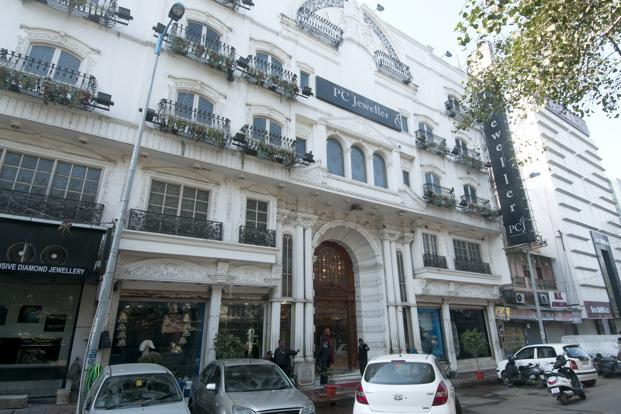 A file photo of the PC Jewellers store in Karol Bagh, New Delhi. Retailers such as PC Jewellers have opened stores in Dehradun, which has a population of 1.7 million, about one-tenth that of Delhi. Photo: Ramesh Pathania/Mint
