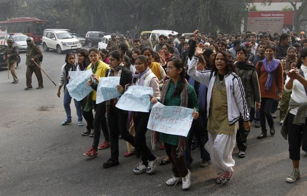 Students protest against last week's gang-rape in New Delhi. Photo: Virendra Singh Gosain/Hindustan Times