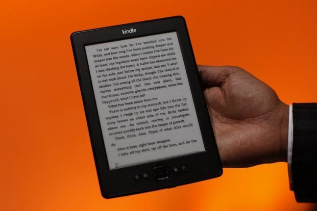 A file photo of a Kindle reading device. Photo: AFP