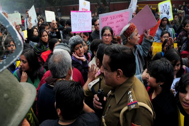 In an interview to the Bengali channel ABP, Abhijit Mukherjee revealed his true feelings about the women who have been protesting at India Gate, New Delhi, to raise their voices against the depraved attack on a 23-year-old woman and her friend on 16 December. Photo: Ramesh Pathania/Mint