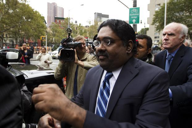 A 2011 photo of Galleon hedge fund founder Raj Rajaratnam at Manhattan Federal Court  in New York. Rajaratnam has already paid $63.8 million in criminal penalties, and a judge had earlier ordered him to pay $92.8 million in a civil case brought by SEC. Photo: Reuters