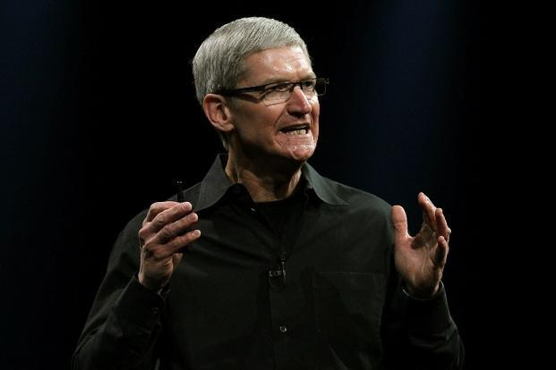 A file photo of Tim Cook. The Apple CEO's record 2011 compensation was boosted by $376.2 million in stock awards that he'll get over a decade. Photo: Justin Sullivan/ AFP
