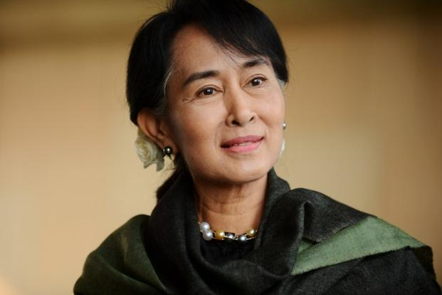 The once highly taboo images of opposition leader Aung San Suu Kyi are now often displayed in Myanmar, even in state-controlled media. Photo: Raveendran/ AFP