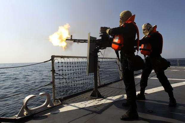 A file photo of Iranian navy conducting the 'Velayat-90' naval drills in the Strait of Hormuz in southern Iran. Photo: AFP