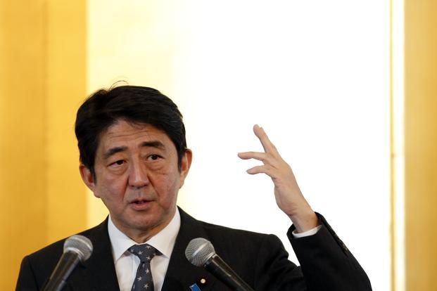 A file photo of Japan Prime Minister Shinzo Abe. Photo: Reuters