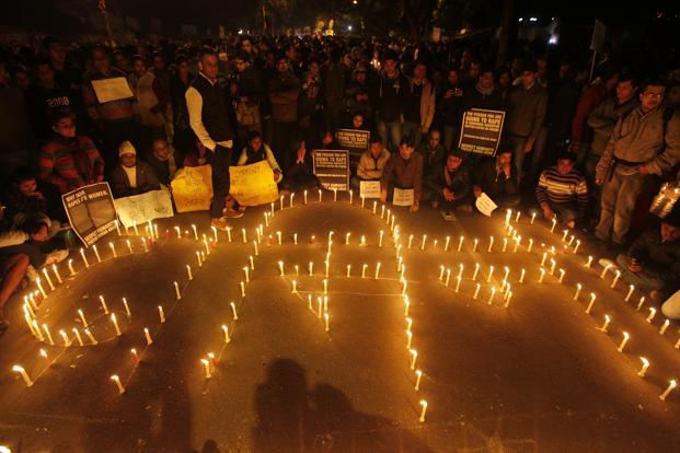 Under the existing law, the maximum punishment for rape is life term, but the nationwide outrage over the 16 December gang-rape of the physiotherapy student in a moving bus in New Delhi has sparked a demand for death penalty to rapists. Photo: Hindustan Times