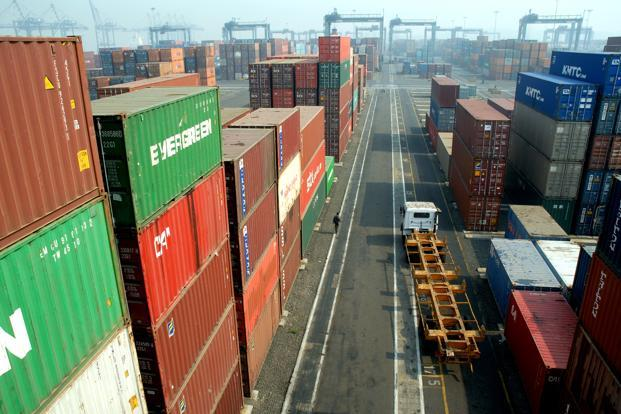 A file photo of Jawaharlal Nehru port. Photo: Mint (Mint)