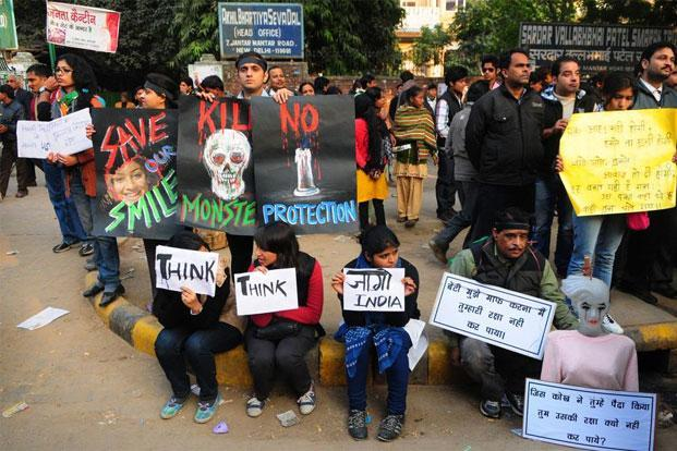 A file photo of a protest against the gang-rape of a girl in New Delhi. Photo: Ramesh Pathania/Mint
