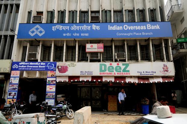 A file photo of an Indian Overseas Bank branch. Photo: Pradeep Gaur/Mint