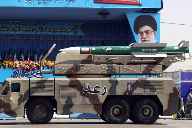 A file photo of a Raad air defence system carrying Taer missiles displayed by Iran's Revolutionary Guard during a military parade in September in Tehran. Photo: AFP