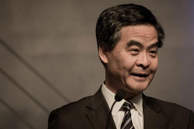 Hong Kong leader Leung Chun-ying had said last month he had been negligent and apologized for how he handled questions over his illegally built basement. Photo: AFP
