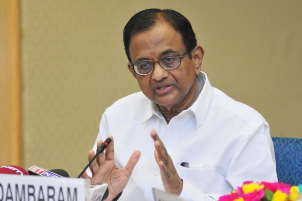 A file photo of finance minister P. Chidambaram. Banking behemoths were considered to be paragons of synergistic efficiency not too long ago. Now they are seen as epicentres of systemic risk. Photo: Ramesh Pathania/Mint