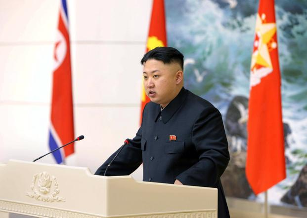 A file photo of North Korean leader Kim Jong-un in Pyongyang, North Korea. The address by Kim, who took over power in the reclusive state after his father, Kim Jong-il, died in 2011, appeared to take the place of the policy-setting New Year editorial published in leading state newspapers. Photo: AFP